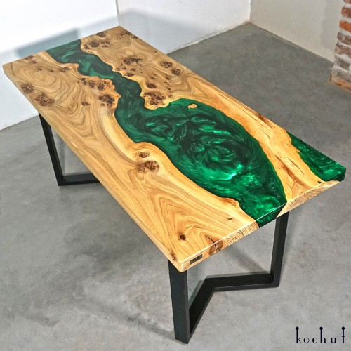 Dining table «Romano». Elm, epoxy resin, polyurethane