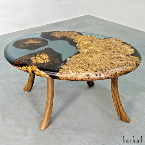 Coffee table «Galapagos». Elm, epoxy resin, polyurethane