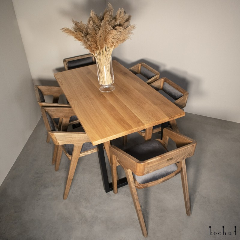 Dining table «Family comfort». Elm, oil-wax