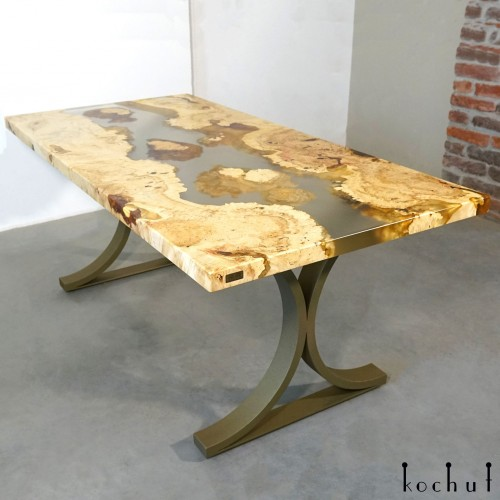 Dining table «Namibia». Maple, epoxy resin, polyurethane