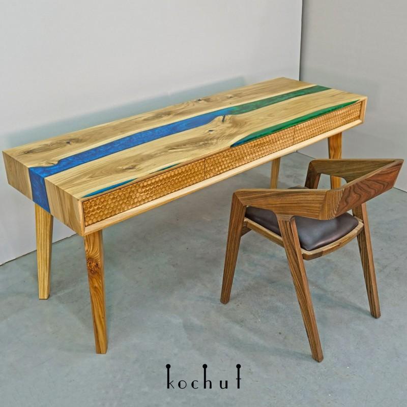 Робочий стіл «Айвенго». Дуб, епоксидна смола, поліуретан