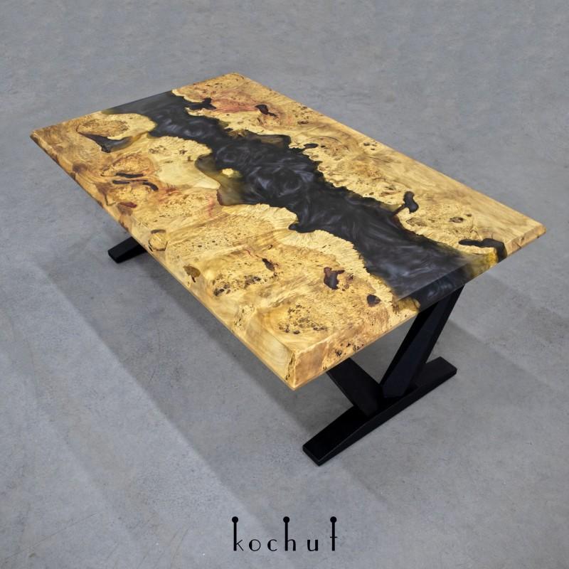 Журнальный стол «Фьорд». Клён, эпоксидная смола, полиуретан
