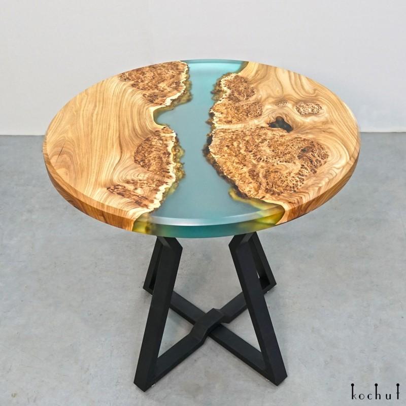 Обеденный стол «Дамаск». Вяз, эпоксидная смола, полиуретан