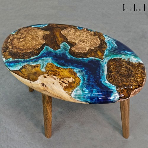 Coffee table «Atlantis». Elm, epoxy resin, polyurethane