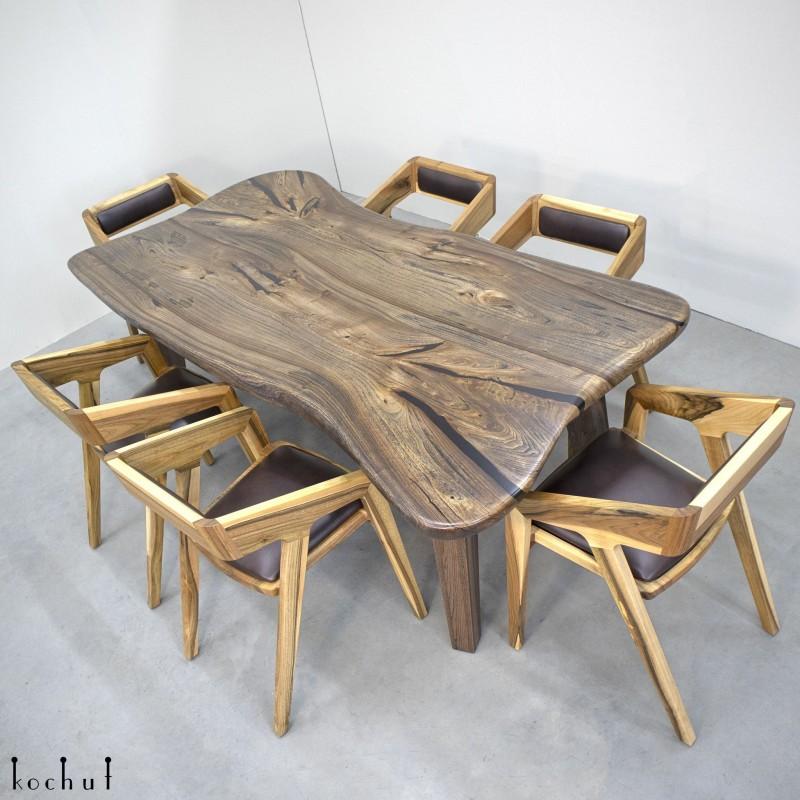 Обеденный стол «Нуар». Вяз, масло-воск, тонирование