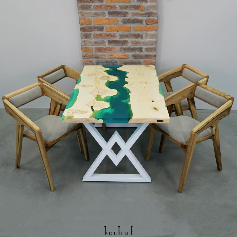 Set «Santorini». Maple, epoxy resin, acrylic