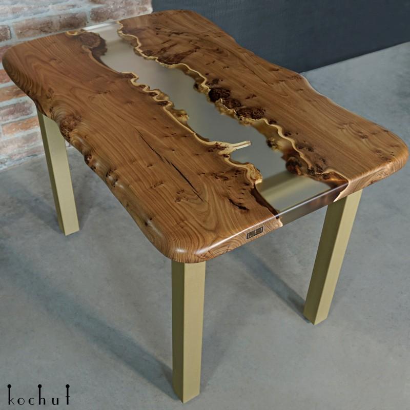 Dining table «Albertini». Elm, epoxy resin, polyurethane