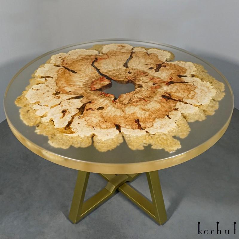 Dining table «Namibia». Maple, epoxy resin, polyurethane