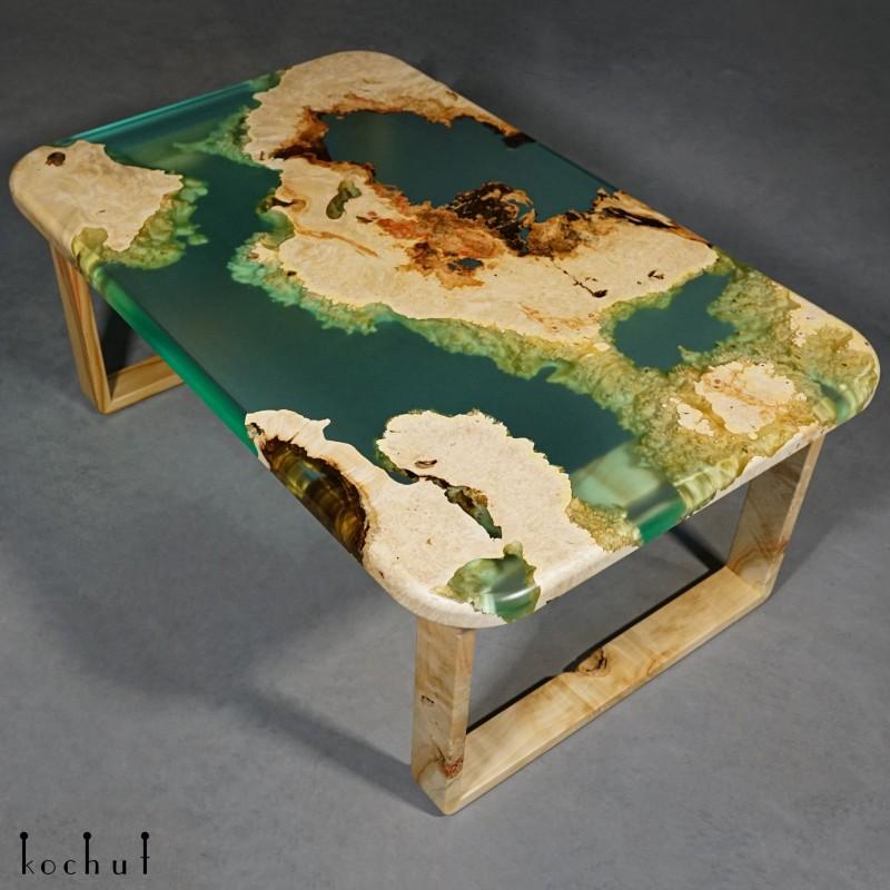 Side table «Santorini». Maple, epoxy resin, polyurethane