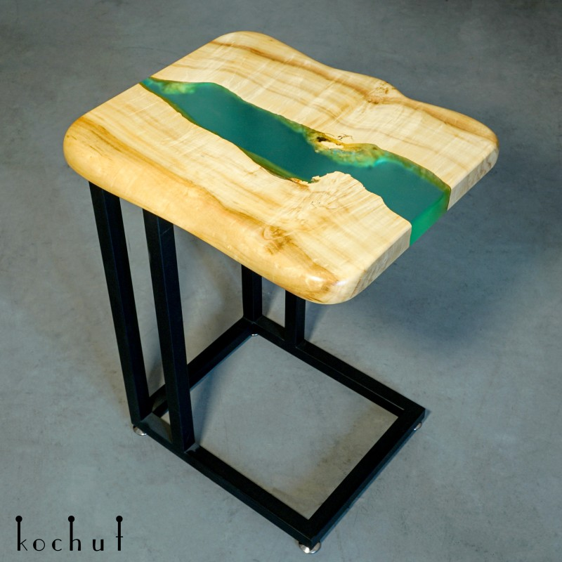 Придиванний стіл «Санторіні». Клен, епоксидна смола, поліуретан