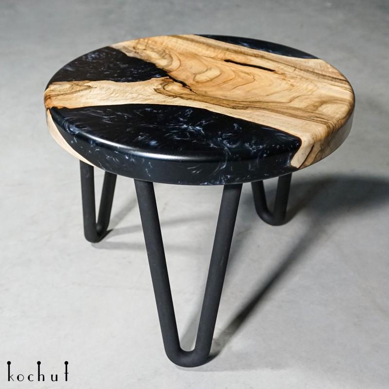 Side table «Mistral». European walnut, epoxy resin, polyurethane