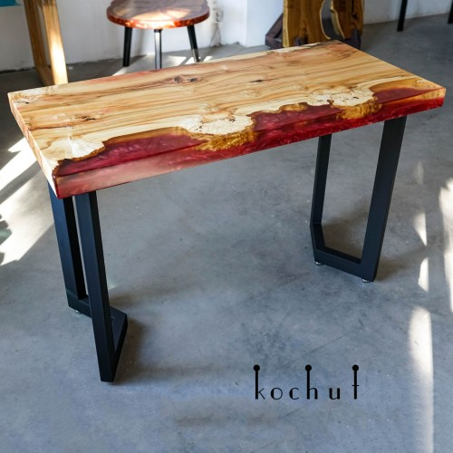 Table console «Coral Bay». California maple, epoxy, wax oil
