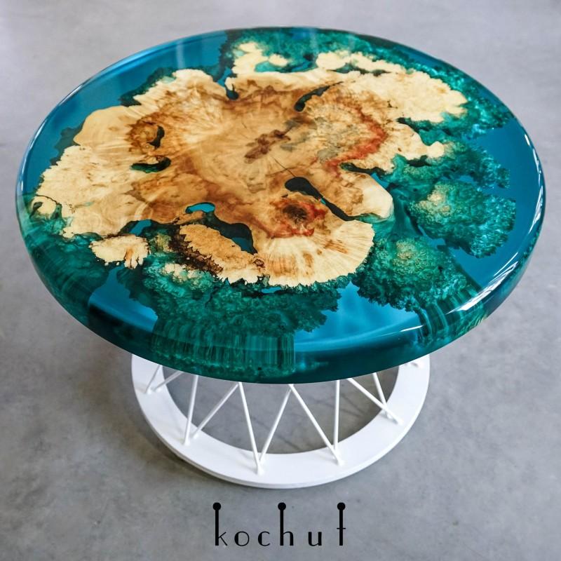 Кофейный стол «Маврикий». Клен, эпоксидная смола, полиуретан