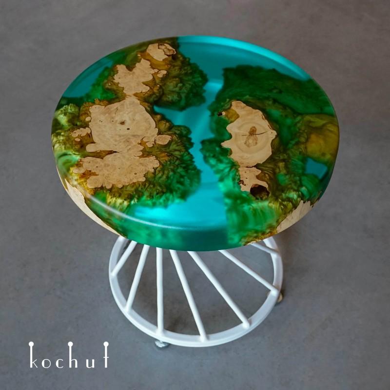 Кофейный стол «Занзибар». Калифорнийский клен, эпоксидная смола, полиуретан